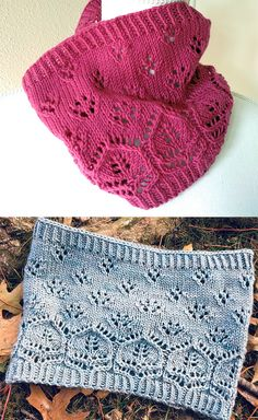 Free until November 30 2018 Knitting Pattern for Potpourri Cowl - Flowers in different stitches bloom in a whimsical lace cowl knit in the round. Instructions are provided for a short or long loop. Designed by Rose Beck. Types Of Knitting Stitches, Baby Knitting Patterns, Lace Knitting, Knit Crochet, Knit Cowl, Knitted Shawls, Skirt Pattern Free, How To Purl Knit, Knit Picks