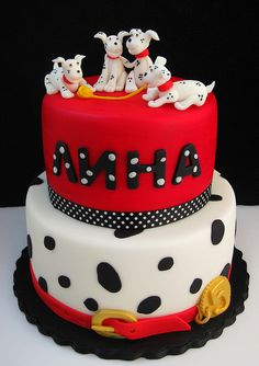 For Aubrey and caidens shared bday. I think a Dalmatian theme would be appropriate lol