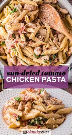 This quick and easy Sun Dried Tomato Chicken Pasta has amazing flavor, comes together quickly, and has a sauce that just melts in your mouth! A dinner recipe the whole family will love! #pasta #chicken #sundriedtomato #tomato #Italian #dinner #easyrecipe Yummy Pasta Recipes, Chicken Pasta Recipes, Quick Dinner Recipes, Cooking Recipes, Noodle Recipes, Pot Pasta, Pasta Dishes, Make Sun Dried Tomatoes, Instant Pot