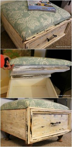 15 Brilliant Repurposing Projects for Old Drawers is part of Diy drawers - If you've been looking for a way to repurpose old dressers or cabinets, I have a treat for you! I've found 15 amazing and unique ways that you can use old drawers and make them Refurbished Furniture, Repurposed Furniture, Furniture Makeover, Vintage Furniture, Diy Furniture Repurpose, Dresser Repurposed, Western Furniture, Handmade Furniture, Rustic Furniture