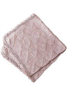 Granny Square Blanket Pink