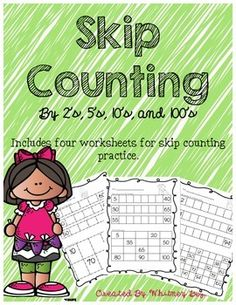 Use these worksheets to practice skip counting by 2's, 5's, 10's, and 100's. Skip counting by 2's, 5's, and 10's goes up to 100. Skip counting by 100's goes up to 1,000. If you like this product please leave feedback at my store :)