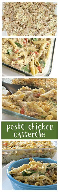 Pesto Chicken Casserole - use cauliflower instead of pasta and no ritz crackers