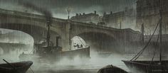The Very Victorian Concept Art of Assassin's Creed Syndicate: Fernando Acosta is an artist who has done work for companies like WB Games, Square Enix and Hasbro. One of his more recent projects, though, was the just-released Assassin's Creed Syndicate. Concept Art Gallery, Concept Art World, London Sketch, World Of Darkness, Punk Art, Dark Places, Art For Art Sake, Fantasy Landscape, Environmental Art