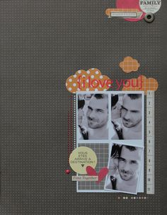 Block of smaller photos grounding layered embellishments. Love the idea of repeating some color and pattern in small touches at the top of the page! Note: I was unable to source this layout. If you know the designer, let me know! Scrapbook Templates, Diy Scrapbook, Scrapbook Layouts, Scrapbook Pages, Paper Crafts, Diy Crafts, Daily Activities, Negative Space, Blog