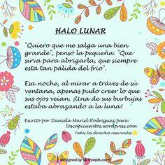 Microcuento infantil HALO LUNAR por Los Capicuentos. Halo, Bullet Journal, Bubbles, Polka Dots, Entryway, Corona, Alone