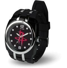 Show your team pride off the court with the Sparo® Houston Rockets Crusher Watch. The team logo at the center face with the bold team colors takes your team spirit to the next level. The stainless steel case back and the high-quality rubber sports strap with silver tone composite accents give this watch a comfortable fit with added style. The heavy-duty sports buckle keeps this team-inspired watch in place as you cheer from the stands.