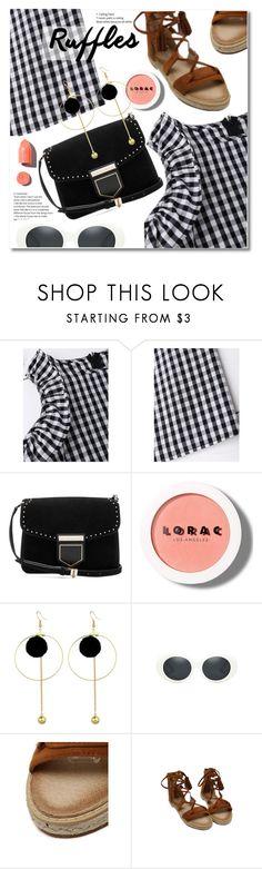 """Add Some Flair: Ruffled Dress"" by svijetlana ❤ liked on Polyvore featuring Givenchy, LORAC, PUR, ruffleddress and zaful"