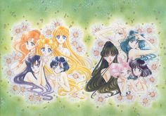 sailor moon group wallpaper with jewelry
