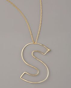 GaugeNYC Letter-Pendant Necklaces - Neiman Marcus....I may be purchasing this soon, love!