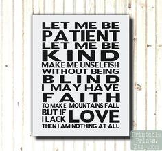Inpirational Art Print Let Me Be Patient Let Me Be Kind Quote Typography Subway Artwork Printable Download Anchor via Etsy