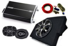 "Kicker Dodge Ram 02-15 Loaded box with 10"""" Comp woofer w/ grille, 4 channel Amp, pair of 6x9 DS speakers w/ wiring kit."