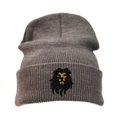 King Lion Long Cuff Beanie/ Embroidered Beanie/ Personalized Beanie/Custom Beanie/Unisex Beanie/Hat by AGCustomsCreations on Etsy