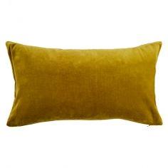Velvet Rectangular Cushion Cover Palm Leaf