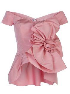Oscar De La Renta- off shoulder rosette blouse.