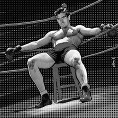 "Olivier Coulon on Instagram: ""#johnpayne #hollywood #movies #vintage #30s #kidnightingale #hunk #art #artwork #digitalart #digitaldrawing #artist #artiste #muscles…"""