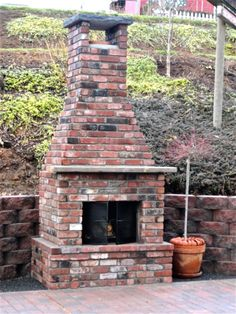 The new outdoor fireplace!