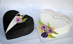 Bride and groom cakes - Cake by majalaska