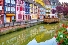 "Colmar, France is the most charming little fairytale town in the world. Why, you ask? Well, first of all, it looks like it's taken straight out of ""Beauty and the Beast"". I mean, just look at those colorful homes and cobblestone streets. This could be Belle's"