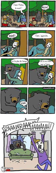 Un ours, faites le mort ! - Be-troll - vidéos humour, actualité insolite