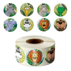 Cute Zoo Animal Sticker (500 Pcs Per Roll)