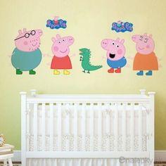 Nálepky na stenu - Peppa pig