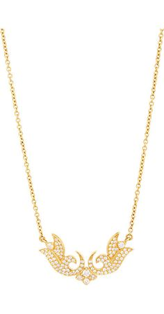 Sara Weinstock Diamond & Gold Victorian French Lace Pendant Necklace -  - Barneys.com