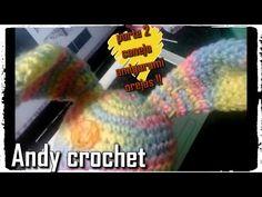 CONEJO AMIGURUMY OREJA ( 2 DE 4 )Andy crochet - YouTube