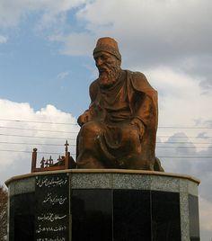 Statue of Rashid-al-Din Hamadani,The Persian physician of Jewish origin…