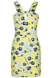 TALL Floral Twist Front Dress