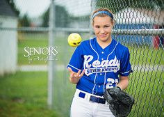 Ready to Play: Bishop Ready Class of 2014 Syd 'The Kid' Gammon - Softball Senior Picture Ideas, Columbus, OH #softballseniorpictureideas #softballseniorpictures #seniorsbyphotojeania