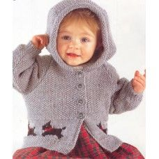 Gorgeous Scottie Dog-knitting pattern= Jacket and sweater