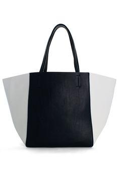 Color Block Twinset Tote Bag