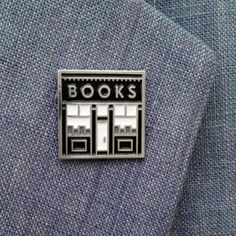 This bookstore pin, which is your happy place.