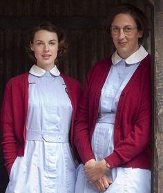 Jessica Raine, Miranda Hart on Call The Midwife