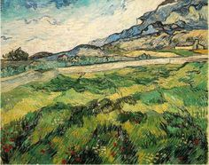 Vincent van Gogh. Green Wheat Field, June 1889, oil on canvas, 28.7 x 36.2 inches.