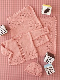 Ravelry: #33 Lace Layette Sweater pattern by Rosemary Drysdale