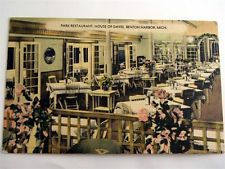 House David Park Restaurant Benton Harbor Michigan MI LINEN Postcard St Joseph Michigan, House Of David, Benton Harbor, Park Restaurant, South Bend, Great Deals, History, Historia