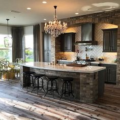 Rustic Kitchen Ideas - Rustic kitchen cupboard is an attractive mix of nation cottage and farmhouse design. Surf 30 ideas of rustic kitchen design below Home Decor Kitchen, New Kitchen, Kitchen Ideas, Cheap Kitchen, Kitchen Interior, Ranch Kitchen, Country Kitchen, Kitchen Brick, Maple Kitchen