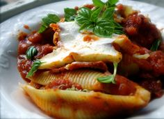 Authentic italian stuffed pasta shells