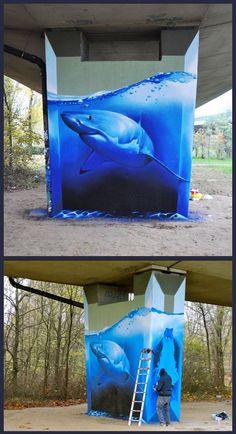 Perfect Shark Graffiti