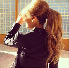 wonderful curly ponytail hairstyle~ for brown long hair