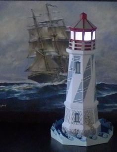 Adding my own base to the SVGcuts lighthouse http://www.katespapercreations.com/2014/05/3d-lighthouse-.html