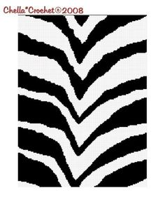 Chella Crochet Pattern Zebra Animal Print Safari Pattern Graph Chart. .PDF. $3.75, via Etsy.