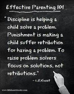 Focus on solving problems, not punishment.