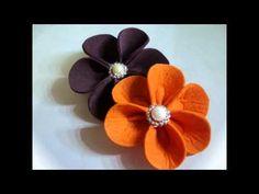 ▶ Handmade Felt Flowers - 2 - YouTube