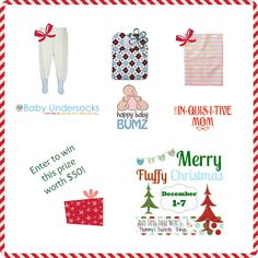 Merry Fluffy Christmas Baby Undersocks and Thirsties Prize Package
