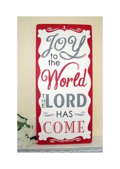 Christmas sign - JOY to the World