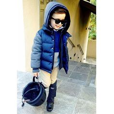 Meet the Best Dressed Boy on Instagram: There may be a chill in the air, but he doesn't care! Source: Instagram user luisaferemateo