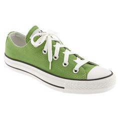 Green Converse Chuck Taylor. My favorite for so long they're disintegrating.